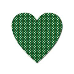 Irish Flag Green White Orange On Green St  Patrick s Day Ireland Heart Magnet by PodArtist