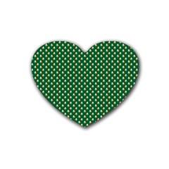 Irish Flag Green White Orange On Green St  Patrick s Day Ireland Heart Coaster (4 Pack)  by PodArtist