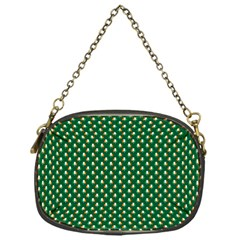 Irish Flag Green White Orange On Green St  Patrick s Day Ireland Chain Purses (one Side)  by PodArtist