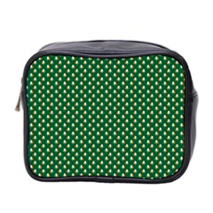 Irish Flag Green White Orange On Green St  Patrick s Day Ireland Mini Toiletries Bag 2 Side by PodArtist