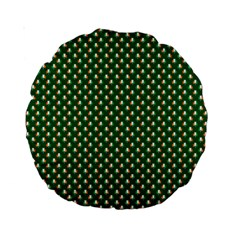 Irish Flag Green White Orange On Green St  Patrick s Day Ireland Standard 15  Premium Round Cushions by PodArtist