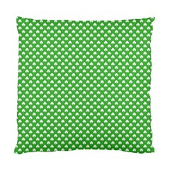White Heart Shaped Clover On Green St  Patrick s Day Standard Cushion Case (two Sides) by PodArtist