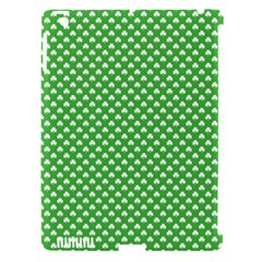 White Heart Shaped Clover On Green St  Patrick s Day Apple Ipad 3/4 Hardshell Case (compatible With Smart Cover) by PodArtist