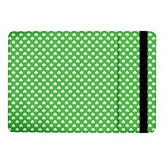 White Heart Shaped Clover On Green St  Patrick s Day Samsung Galaxy Tab Pro 10 1  Flip Case by PodArtist