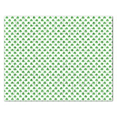 Green Heart Shaped Clover On White St  Patrick s Day Rectangular Jigsaw Puzzl by PodArtist