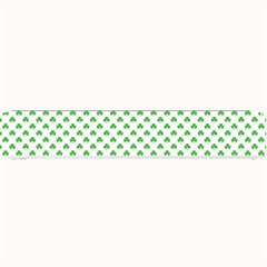 Green Heart Shaped Clover On White St  Patrick s Day Small Bar Mats by PodArtist