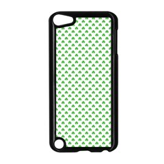 Green Heart Shaped Clover On White St  Patrick s Day Apple Ipod Touch 5 Case (black) by PodArtist