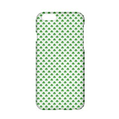 Green Heart Shaped Clover On White St  Patrick s Day Apple Iphone 6/6s Hardshell Case by PodArtist