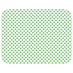 Green Heart Shaped Clover On White St  Patrick s Day Full Print Lunch Bag by PodArtist