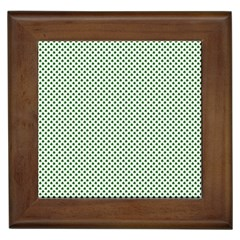 Shamrock 2 Tone Green On White St Patrick's Day Clover Framed Tiles by PodArtist