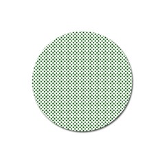 Shamrock 2 Tone Green On White St Patrick's Day Clover Magnet 3  (round) by PodArtist