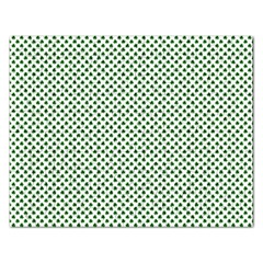 Shamrock 2 Tone Green On White St Patrick's Day Clover Rectangular Jigsaw Puzzl by PodArtist