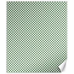 Shamrock 2 Tone Green On White St Patrick?¯s Day Clover Canvas 20  X 24   by PodArtist