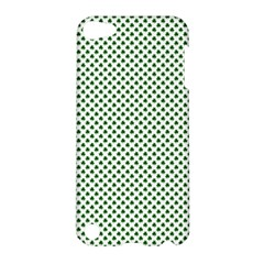 Shamrock 2 Tone Green On White St Patrick's Day Clover Apple Ipod Touch 5 Hardshell Case by PodArtist