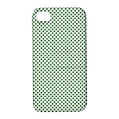 Shamrock 2 Tone Green On White St Patrick's Day Clover Apple Iphone 4/4s Hardshell Case With Stand by PodArtist