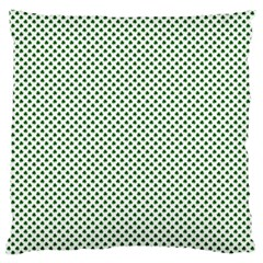 Shamrock 2 Tone Green On White St Patrick's Day Clover Standard Flano Cushion Case (two Sides) by PodArtist