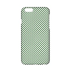 Shamrock 2 Tone Green On White St Patrick's Day Clover Apple Iphone 6/6s Hardshell Case by PodArtist