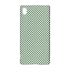Shamrock 2 Tone Green On White St Patrick's Day Clover Sony Xperia Z3+ by PodArtist