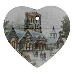 Santa Claus 1845749 1920 Ornament (heart) by vintage2030