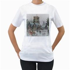 Santa Claus 1845749 1920 Women s T Shirt (white)  by vintage2030