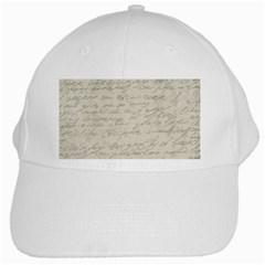 Handwritten Letter 2 White Cap by vintage2030