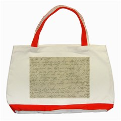 Handwritten Letter 2 Classic Tote Bag (red) by vintage2030