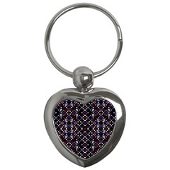 Futuristic Geometric Pattern Key Chains (heart)  by dflcprints