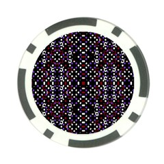 Futuristic Geometric Pattern Poker Chip Card Guard by dflcprints