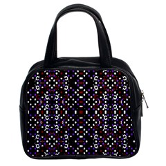 Futuristic Geometric Pattern Classic Handbags (2 Sides) by dflcprints