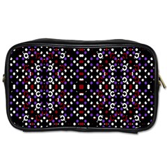 Futuristic Geometric Pattern Toiletries Bags by dflcprints