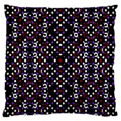 Futuristic Geometric Pattern Large Cushion Case (two Sides) by dflcprints