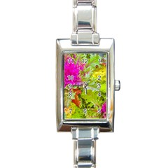 Colored Plants Photo Rectangle Italian Charm Watch by dflcprints