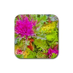 Colored Plants Photo Rubber Coaster (square)  by dflcprints
