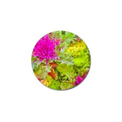 Colored Plants Photo Golf Ball Marker (4 Pack) by dflcprints