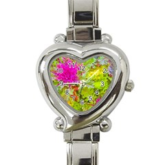 Colored Plants Photo Heart Italian Charm Watch by dflcprints