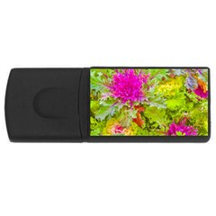 Colored Plants Photo Rectangular Usb Flash Drive by dflcprints