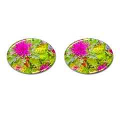 Colored Plants Photo Cufflinks (oval) by dflcprints