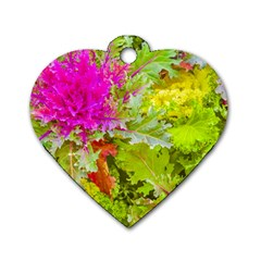 Colored Plants Photo Dog Tag Heart (two Sides) by dflcprints