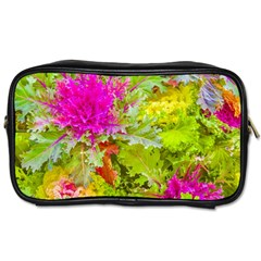 Colored Plants Photo Toiletries Bags by dflcprints