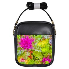Colored Plants Photo Girls Sling Bags by dflcprints