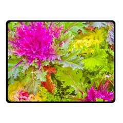 Colored Plants Photo Fleece Blanket (small) by dflcprints