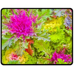 Colored Plants Photo Double Sided Fleece Blanket (medium)  by dflcprints