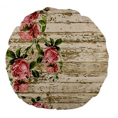 On Wood 2226067 1920 Large 18  Premium Flano Round Cushions by vintage2030