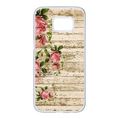 On Wood 2226067 1920 Samsung Galaxy S7 Edge White Seamless Case by vintage2030