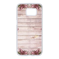 On Wood 1975944 1920 Samsung Galaxy S7 Edge White Seamless Case by vintage2030