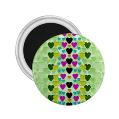 Summer Time In Lovely Hearts 2 25  Magnets by pepitasart