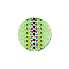 Summer Time In Lovely Hearts Golf Ball Marker (10 Pack) by pepitasart