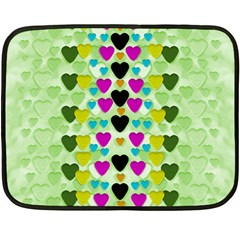 Summer Time In Lovely Hearts Double Sided Fleece Blanket (mini)  by pepitasart