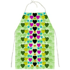 Summer Time In Lovely Hearts Full Print Aprons by pepitasart