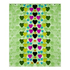 Summer Time In Lovely Hearts Shower Curtain 60  X 72  (medium)  by pepitasart